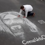 Young Missionary Lets His Chalk Do the Talking