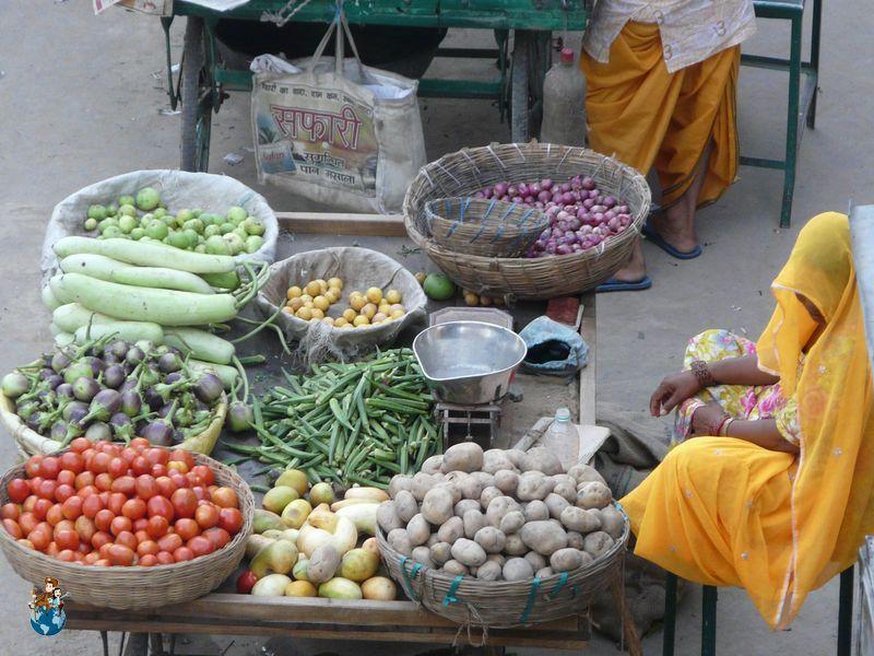 Puesto de comida en India
