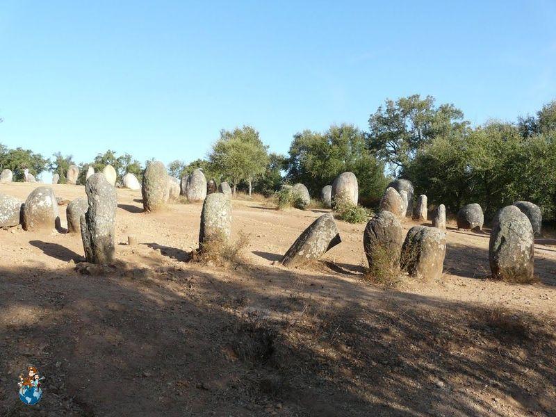 Cromlech dos Almendres cerca de Évora