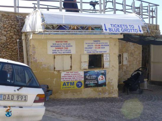 Caseta para comprar tickets Blue Grotto - Embarcadero de Wied-iz-Zurrieq