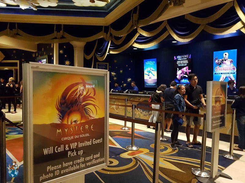 Espectáculo Mystère Cirque du Soleil en Las Vegas