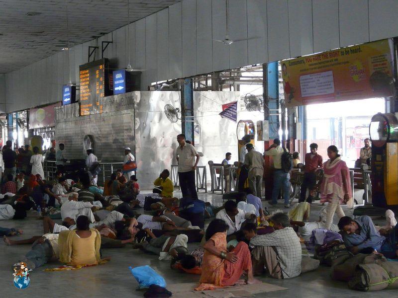 Estación de tren de la India