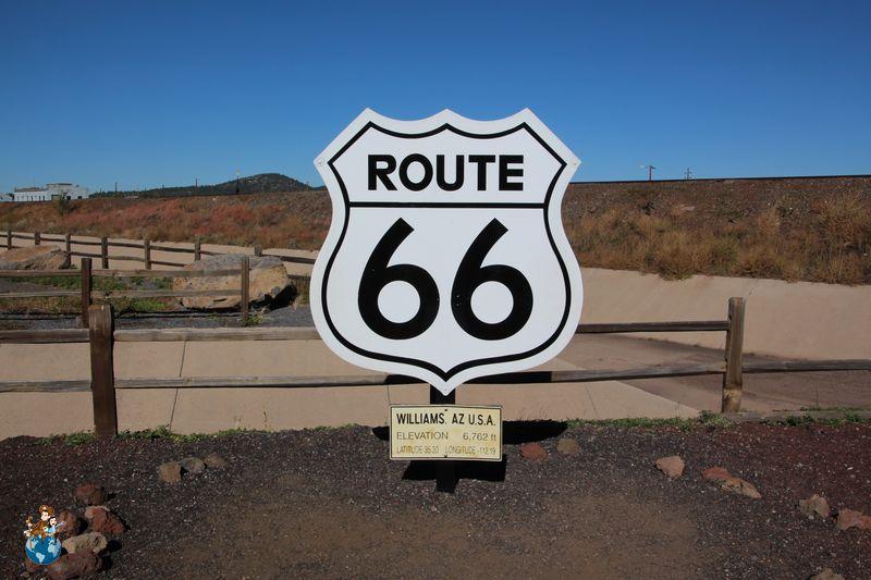 Letrero Ruta 66
