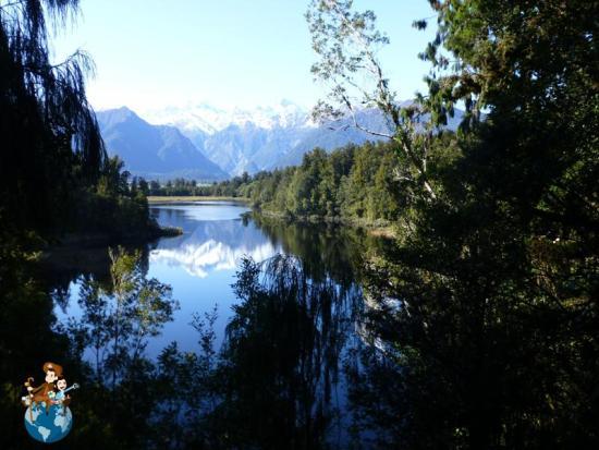 Lago Matheson desde mirador View of Views