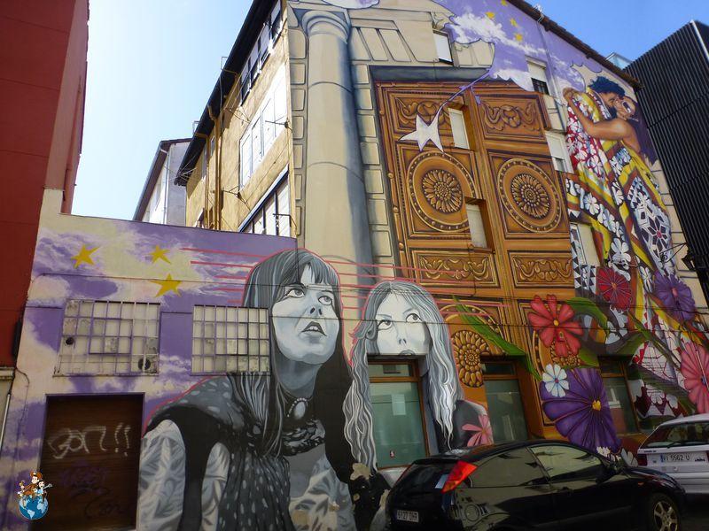 Mural Cubiertos de Cielo y Estrellas - Ruta murales Vitoria-Gasteiz