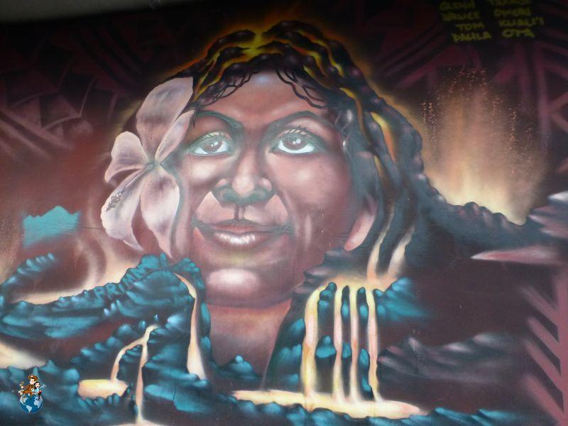 Mural Diosa Pelé en Hilo
