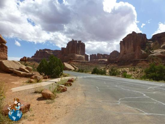 Parque Nacional Arches - carretera principal