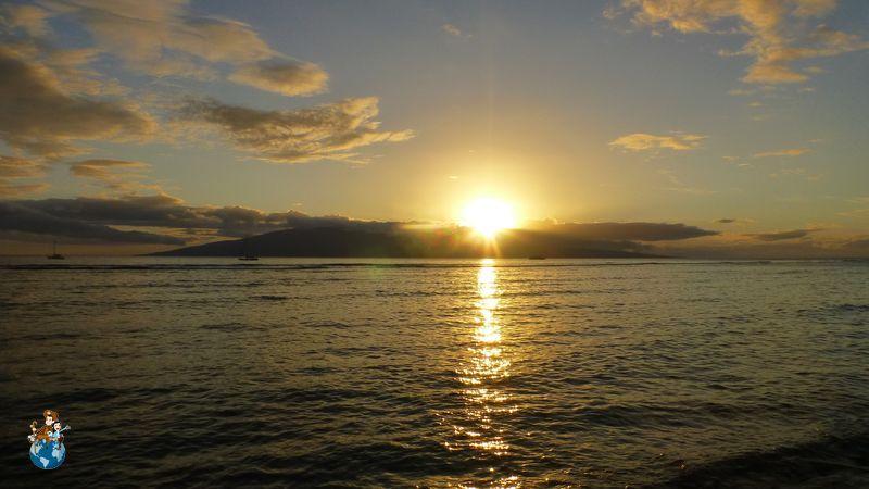 Puesta de sol en Lahaina