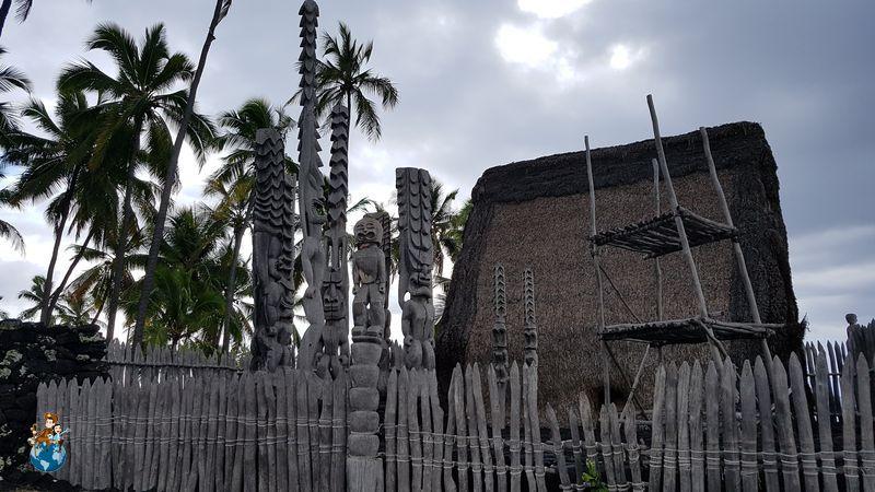 Templo principal del Pu'uhonao Honaunau National Historical Park