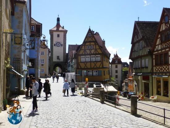Plaza de Plönlein - Rothenburg ob der Tauber