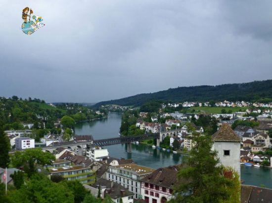 Vistas de Schaffhausen desde el Munot