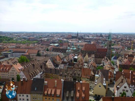 Vistas de Núremberg desde la Torre Sinwell
