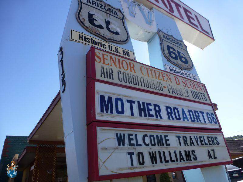 Típico motel de carretera en Ruta 66