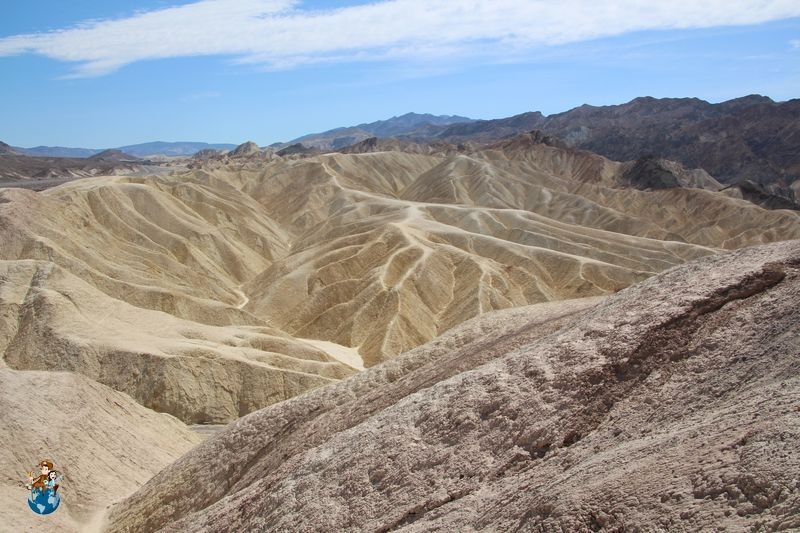 Zabriskie Point en Parque Nacional de Death Valley