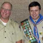 Bishop Reeve and John after his Eagle Court of Honor