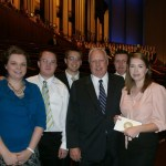 Rachel, Anthony, Bob, Dad, John, and Rebecca prior to Music and the Spoken Word
