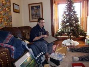 Bob received a laptop as a combination Christmas and graduation present.