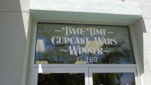 Closeup of the Cupcake Wars champion's bakery