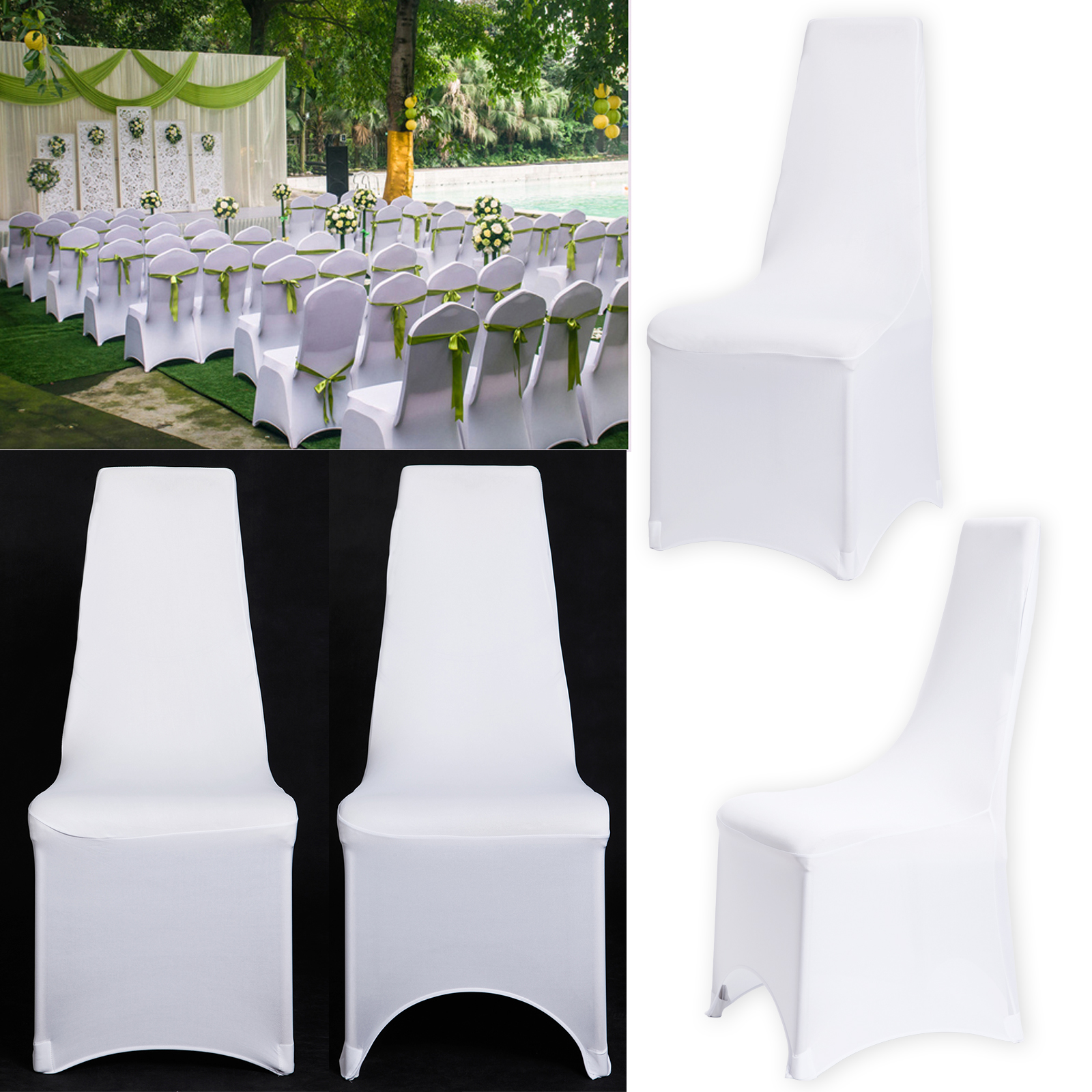stretch dining chair covers uk wheelchair rugby pack of removable slipcovers lycra spandex
