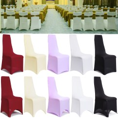Stretch Dining Chair Covers Uk Pink Upholstered Pack Of Removable Slipcovers Lycra Spandex