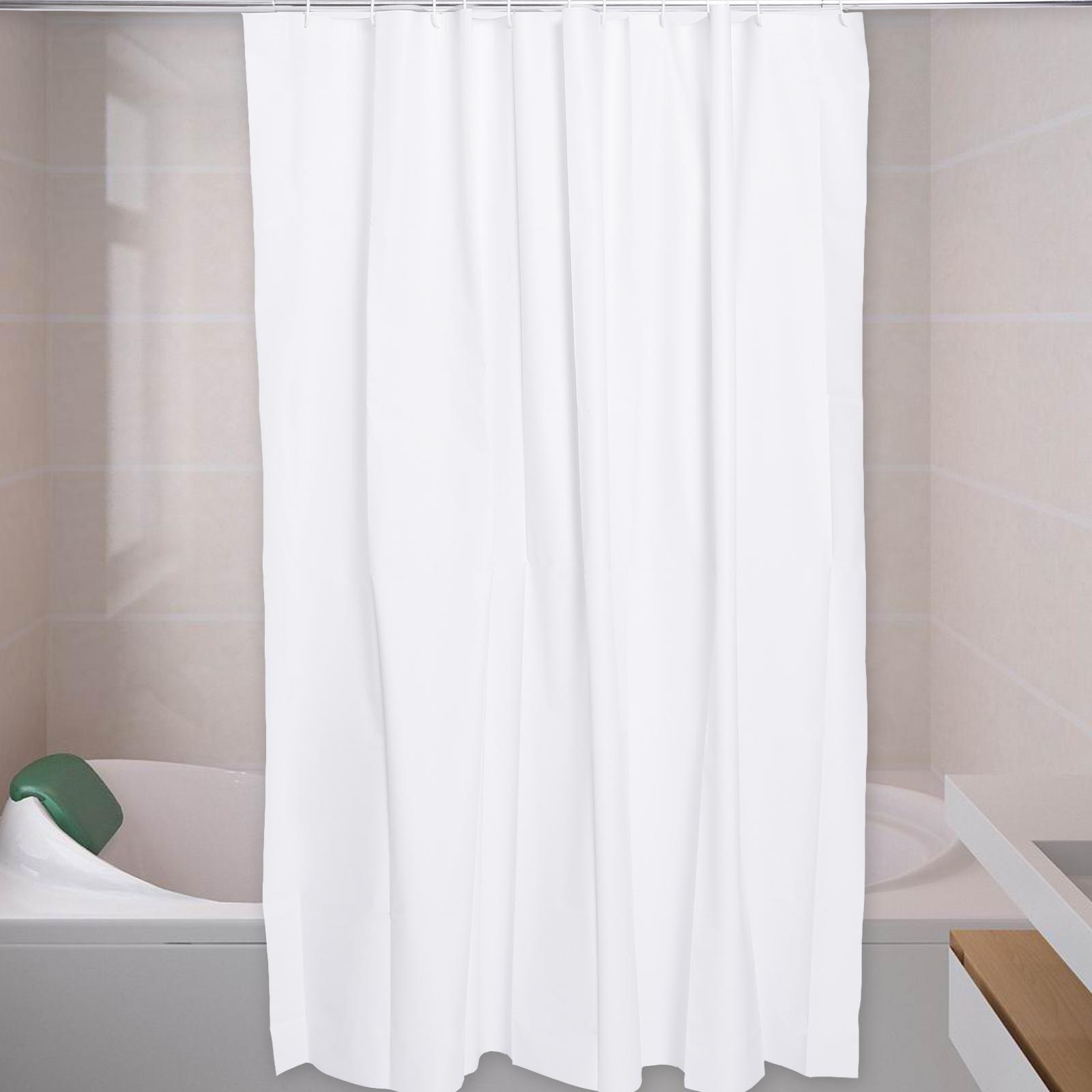 Peva Shower Curtain Plain Extra Wide Extra Long Standard