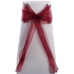 Sash For Chairs Table Amd 50x Wedding Bow Chair Bows Sashes