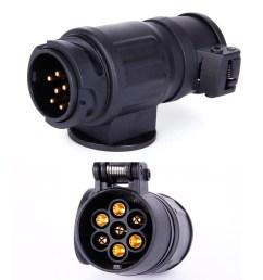 details about trailer caravan wiring light 13 pin to 7 pin 12n plug adapter converter [ 1600 x 1600 Pixel ]