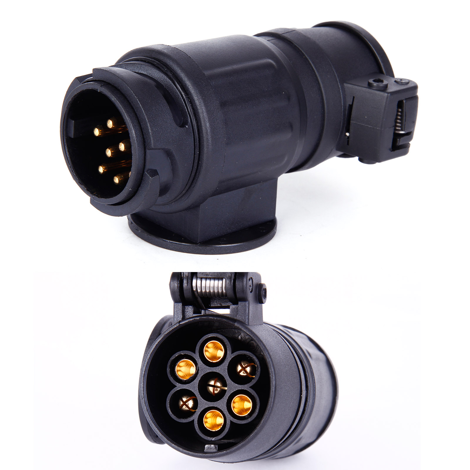 hight resolution of details about trailer caravan wiring light 13 pin to 7 pin 12n plug adapter converter