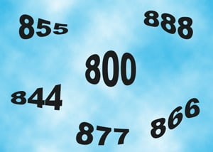 How many 800 numbers are available