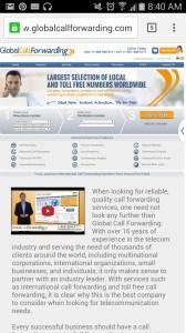 GlobalCallForwarding Mobile Site