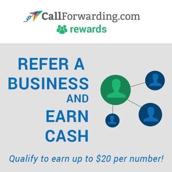 CallForwarding.com Rewards Referral Program