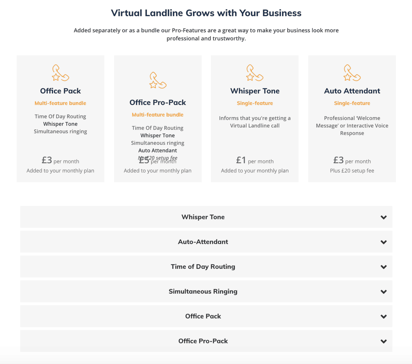 virtual landlines service and features