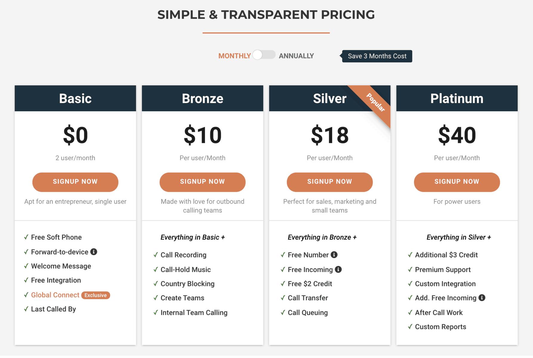 CallHippo-pricing