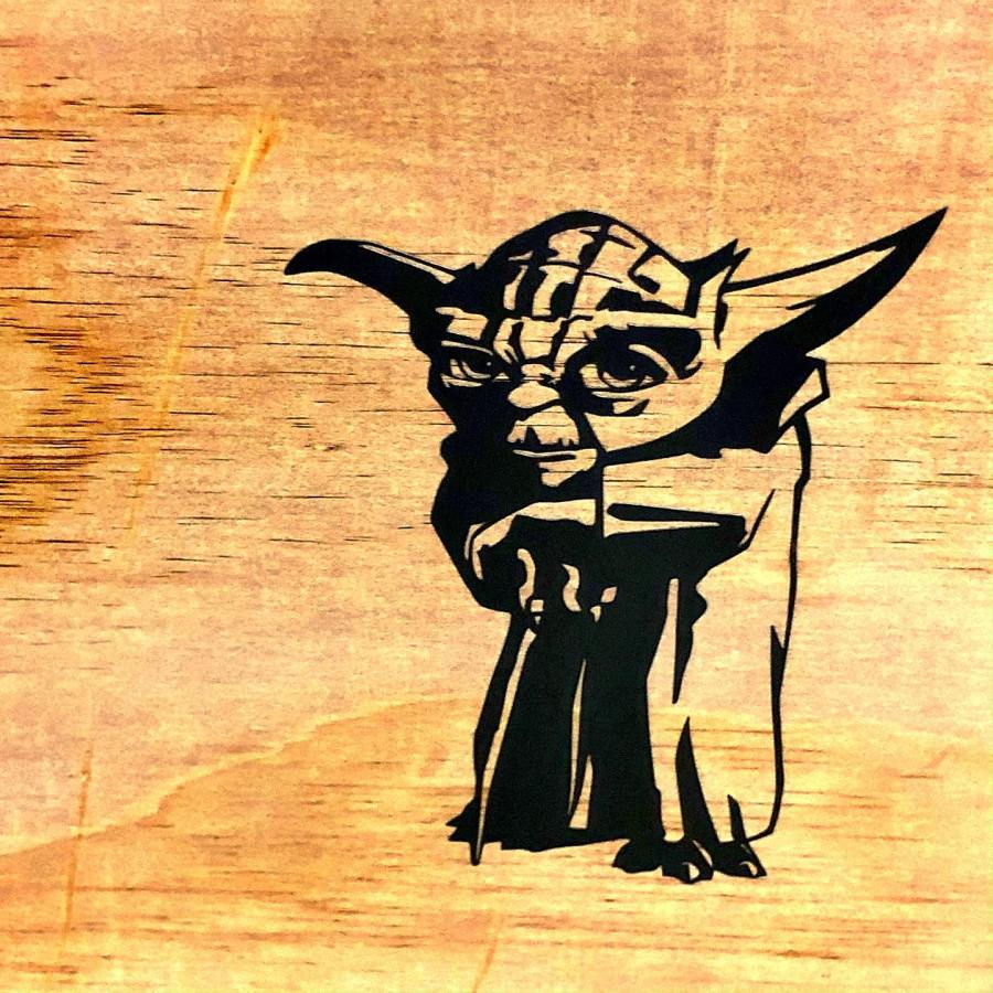 Master Yoda now watches over me in MakerCave
