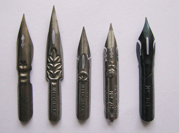 long pointed nibs