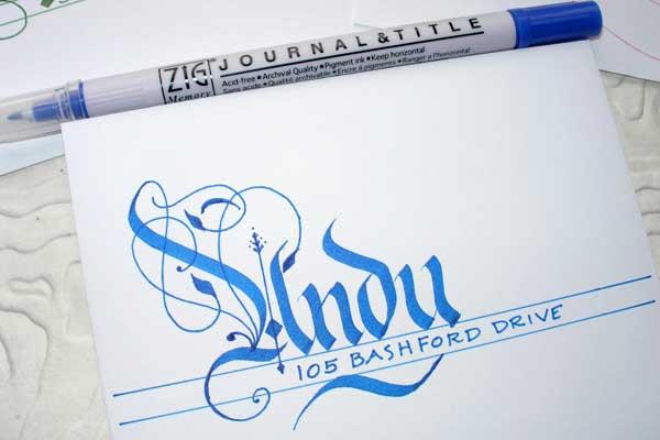 Jane Farr calligraphy
