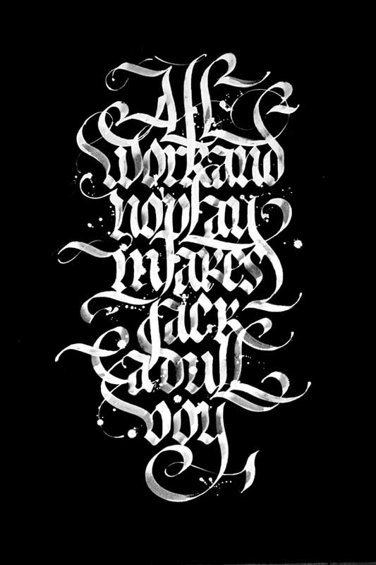 calligraphy by Chekal