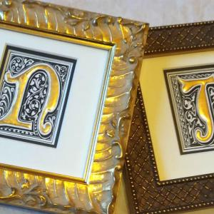 Gold Leaf Letters
