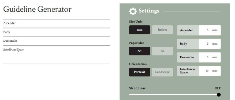scribblers guideline generator