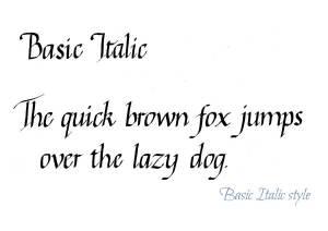 Basic Italic Calligraphy Style