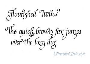 Flourished Italic Calligraphy Style