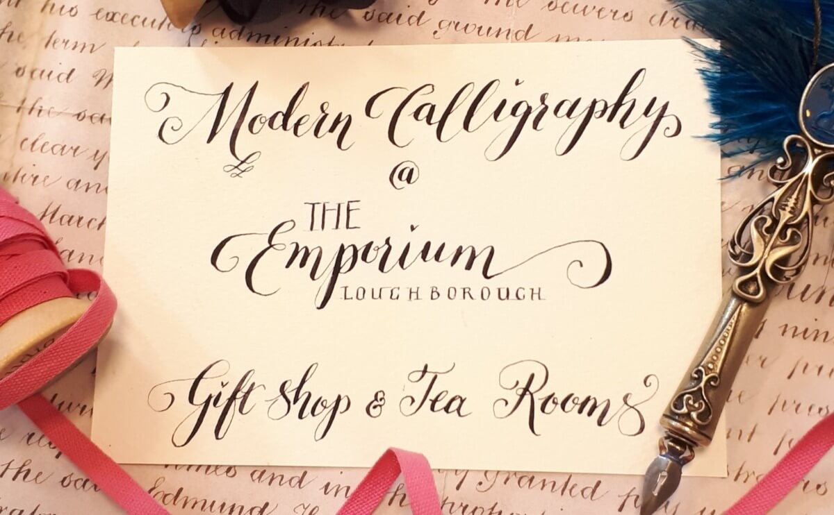 Modern Calligraphy Workshop at the Emporium