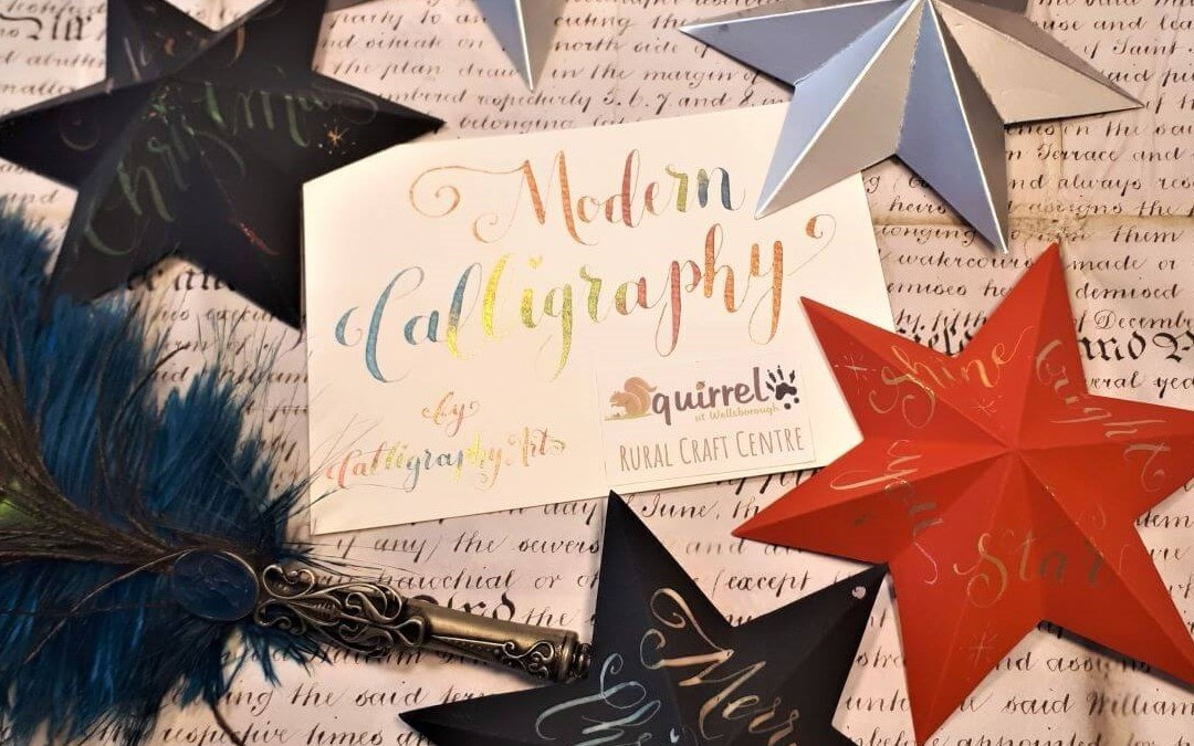 Modern Calligraphy Stars at Squirrel Cafe, Wellsborough