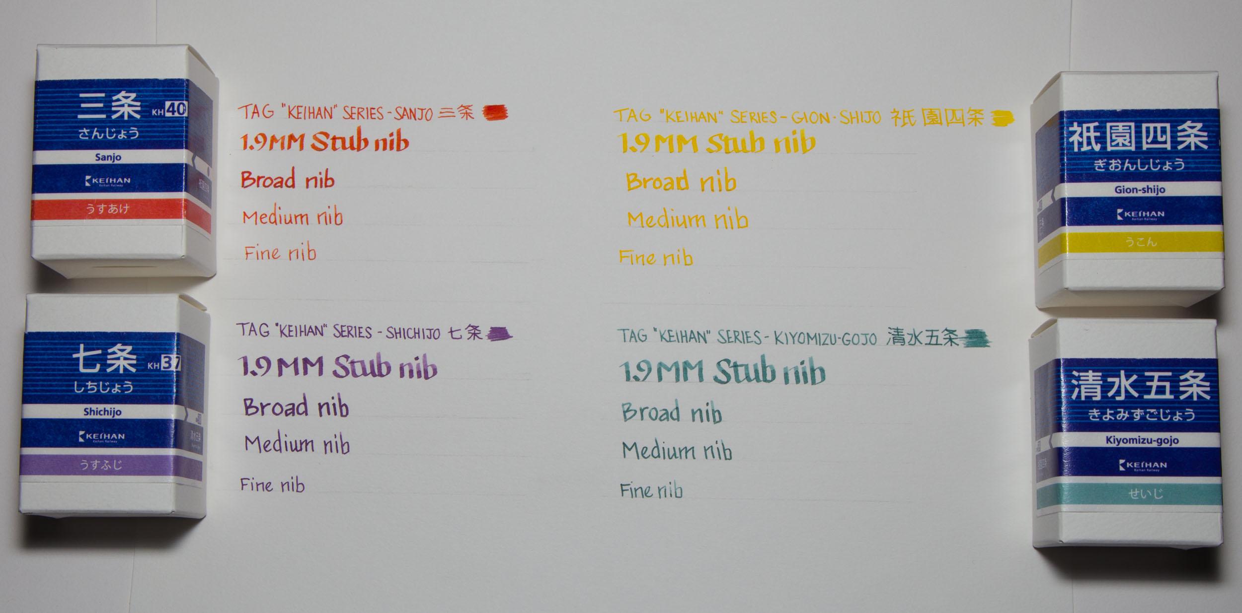 TAG Keihan Writing Examples