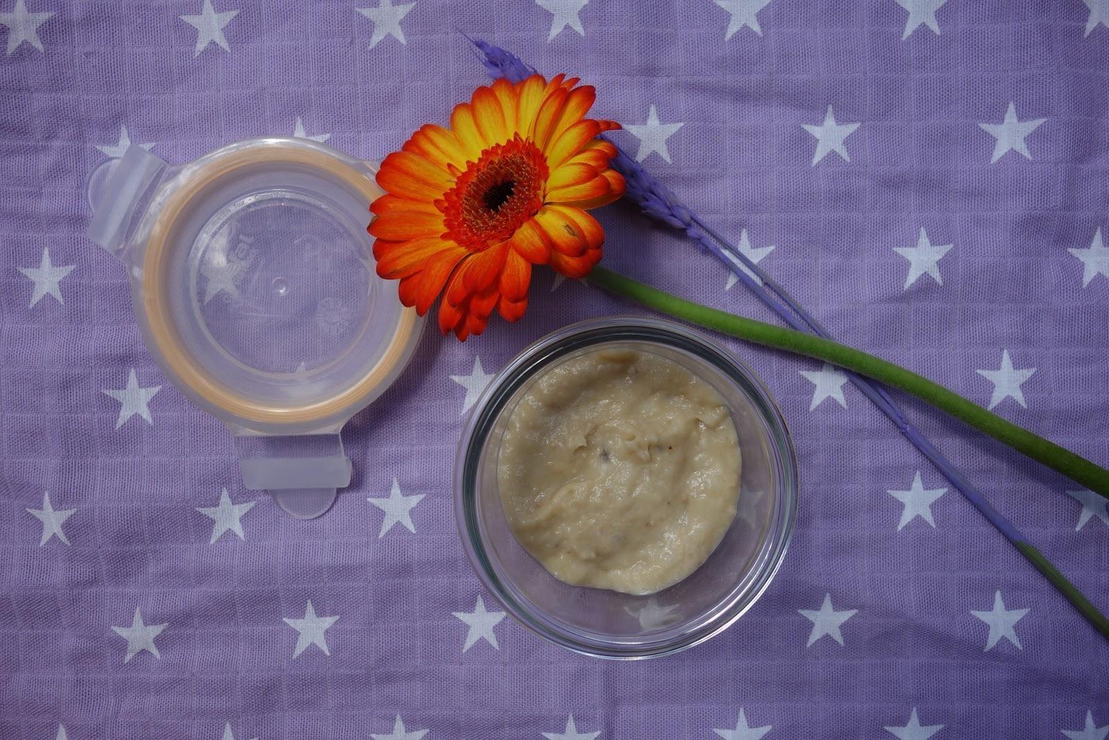 Crème biscuitée au lait maternel et à la banane