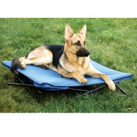Camping Dog Bed - White Bed