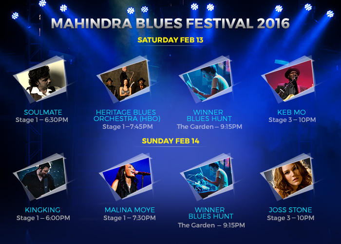 mahindra blues festival 2016 schedule