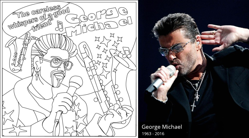 George Michael Coloring