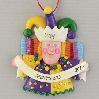 The Mardi Gras New Orleans Jester Claydough Decoration