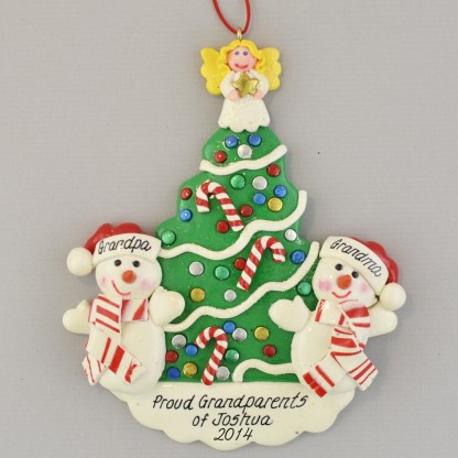 Favorite Grandparents Personalized Christmas Ornament